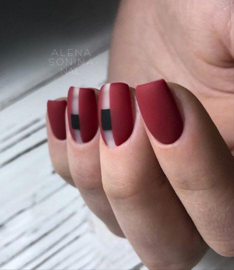 Матовый красный маникюр: фото 2019