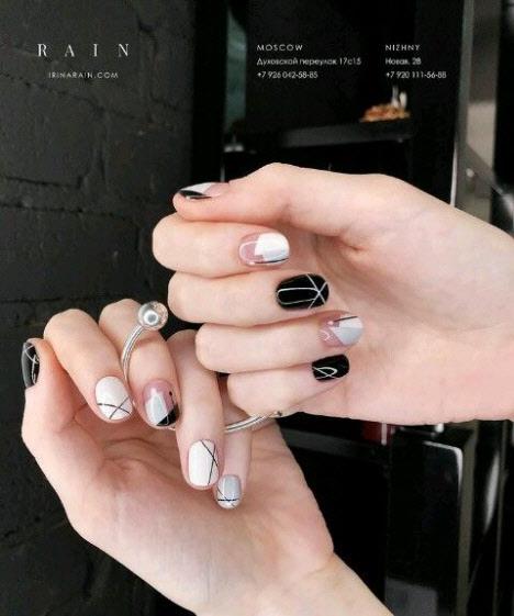 Геометрический дизайн ногтей 2019