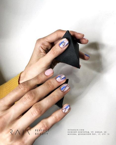 Геометрический маникюр. Более 100 фото модных и красивых идей маникюра
