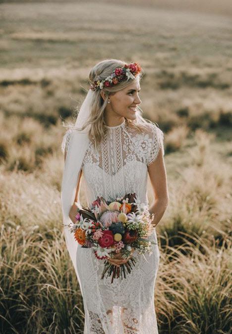 Свадебные прически: каре 2019