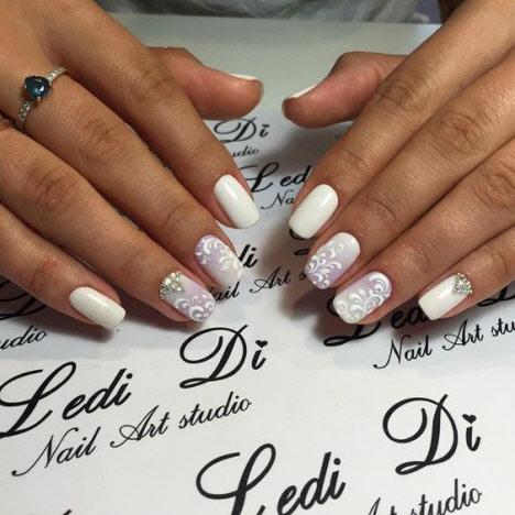 Свадебный дизайн ногтей: фото 2019