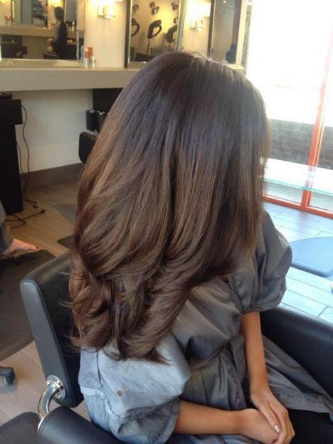 Стрижки для густых волос на длинные волосы