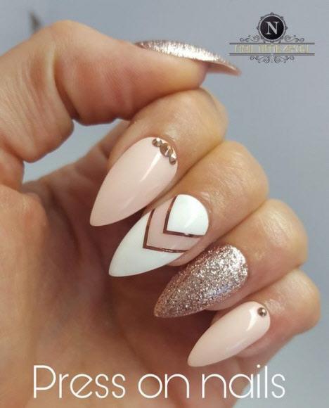 Свадебный маникюр на длинные ногти