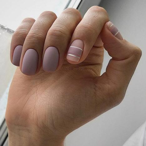 Маникюр в стиле нюд на короткие ногти 2019-2020