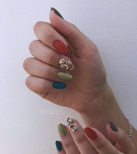 Осенний дизайн ногтей 2019