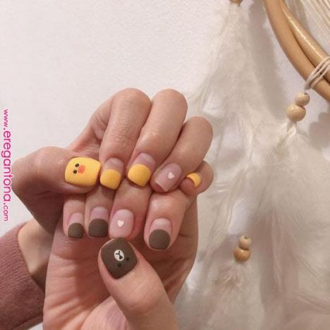 Маникюр негативное пространство на короткие ногти