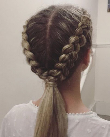 Прически с косами на 1 сентября
