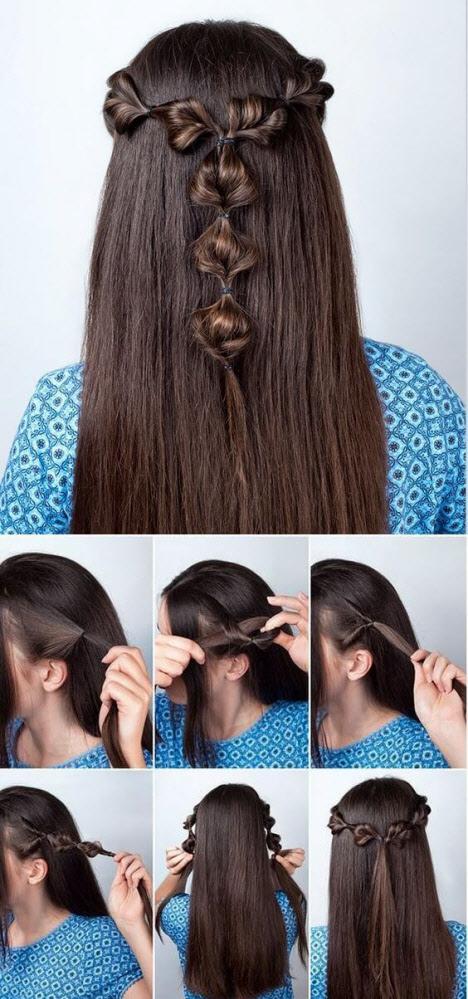 Прическа в школу за 5 минут на средние и длинные волос