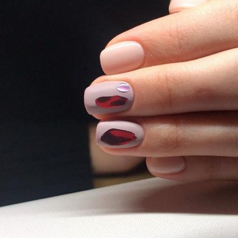 Фото маникюра слезы единорога на короткие и длинные ногти