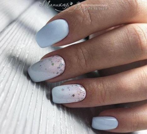 Маникюр на квадратную форму ногтей весна 2020