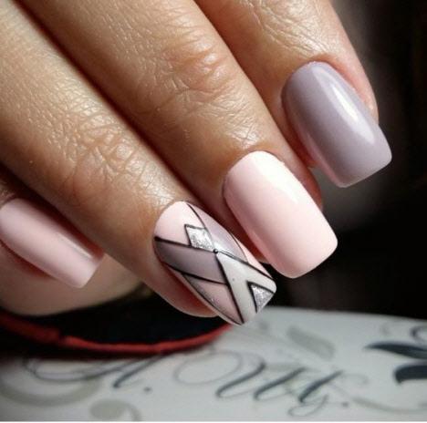 Фото новинки маникюра на квадратные ногти