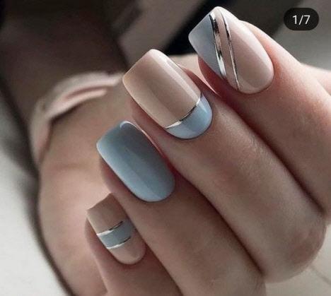 Фото новинки маникюра на квадратные ногти сезона 2020