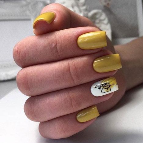 Маникюр на квадратную форму ногтей на осень 2020