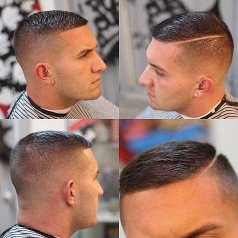 Короткая мужская стрижка с пробором