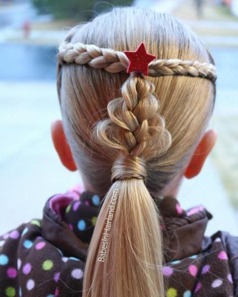 Прическа на Новый год в садик и школу для девочек