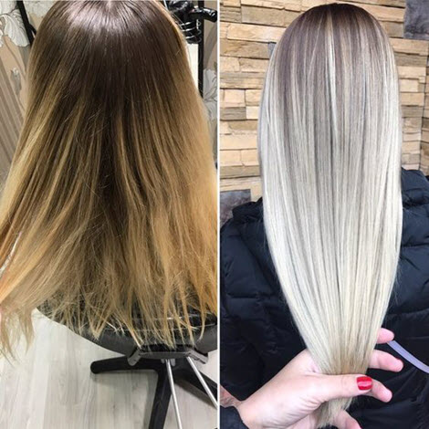 Модные виды окрашивания волос 2020: фото до и после