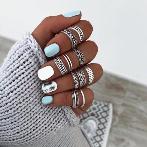Дизайн ногтей лето 2020 на короткие ногти