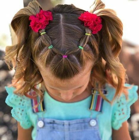 Фото красивых причесок для девочек в садик