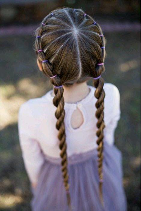 Прически для девочек в школу и садик
