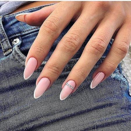 Френч на длинные ногти 2020