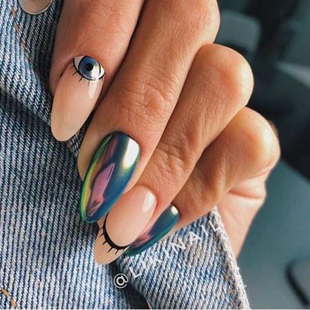 Дизайн маникюра на длинные ногти