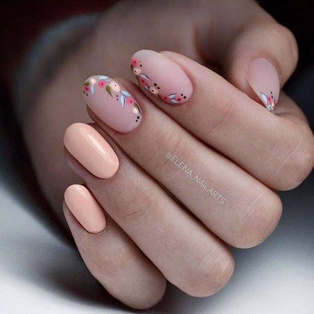 Рисунок акварелью: модный дизайн ногтей