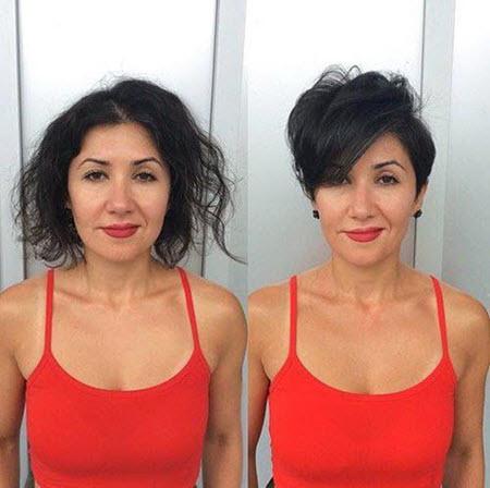 Стрижка пикси: фото до и после