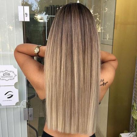 Стрижка н адлинные волосы с прямым срезом