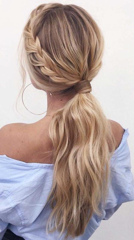 Стильный хвост на длинные волосы