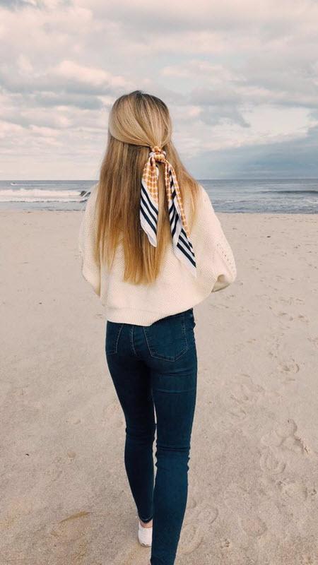 Идеи красивой мальвинки на длинные волосы