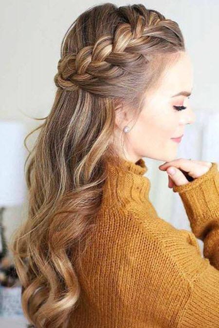 Красивые плетение с косичками на длинные волосы