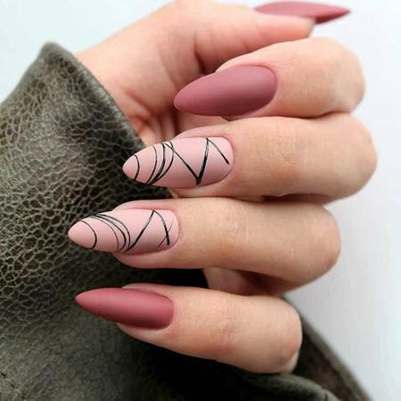 Маникюр паутинка на длинные ногти
