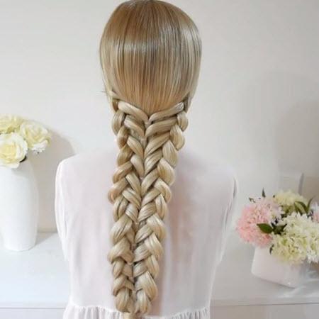 Красивые косички на первое сентября для длинных волос