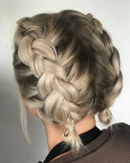 Косички для коротких волос в школу