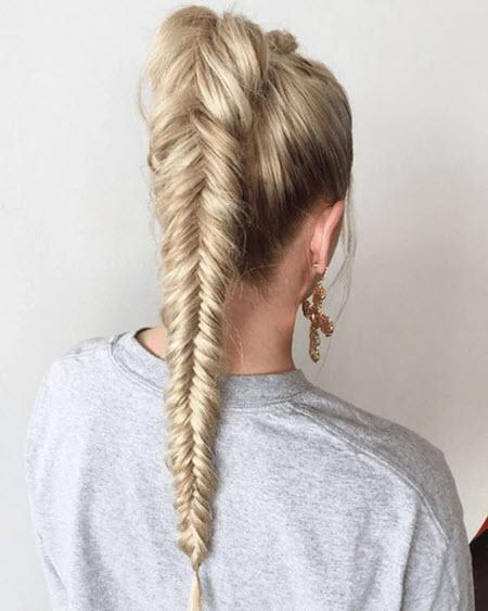 Красивое плетение на длинные волосы: фото 2021