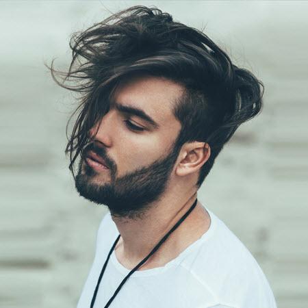 Мужская стрижка андеркат на длинные волосы