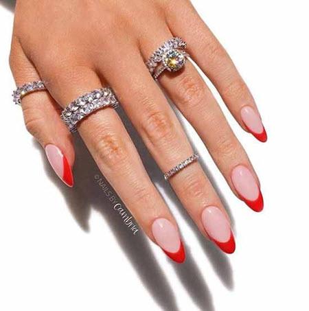 Френч на овальные ногти