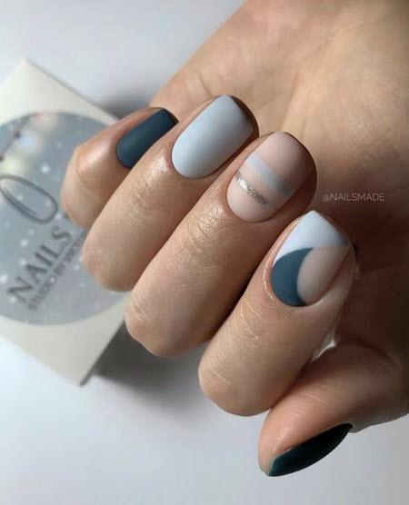 Дизанй ногтей негативное пространство
