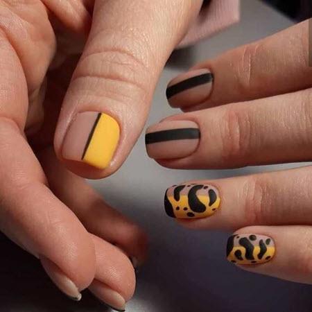 Дизайн ногтей с животным принтом