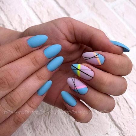 Маникюр геометрия на овальные ногти