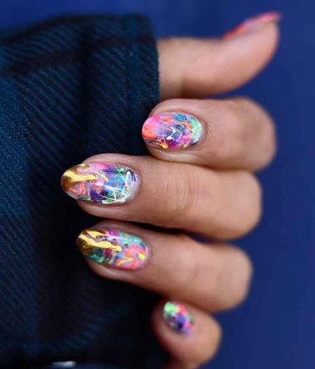 Фото новинки дизайна ногтей на овальные ногти