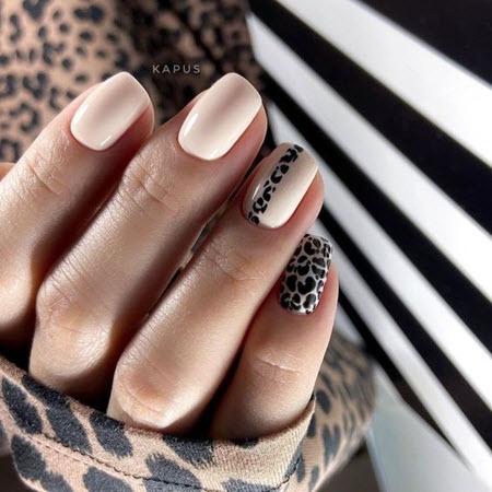 Дизайн ногтей с рисунком животных