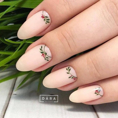 Рисунки с цветами на короткие и длинные ногти