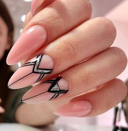 Фото маникюра геометрия 2021 на короткие и длинные ногти