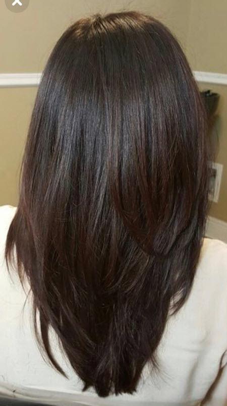 Фото модных стрижек на длинные волосы