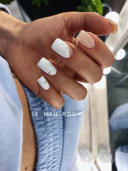 Идеи белого дизайна ногтей