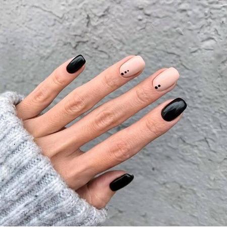 Дизайн ногтей с точками