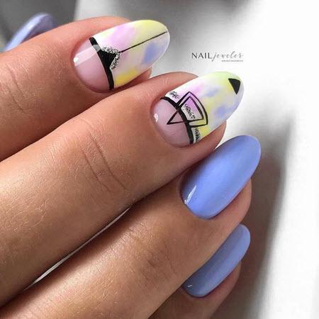 Дизайн ногтей геометрия