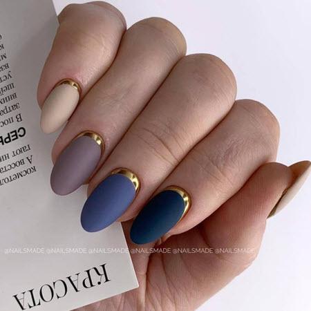 Дизайн ногтей с золотой фольгой