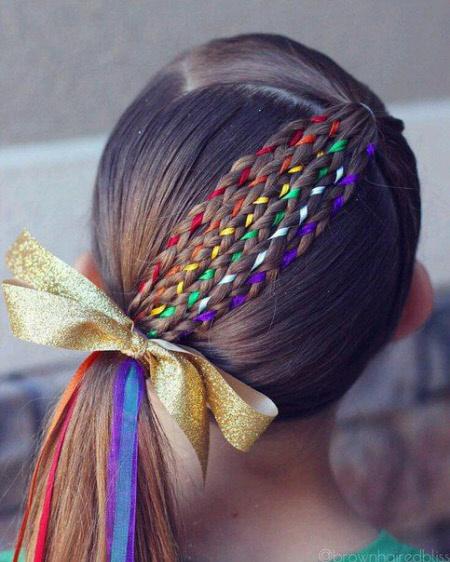 Прическа на первое сентября для длинных волос